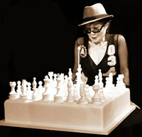Yoko Ono 75th Birthday Chess Cake