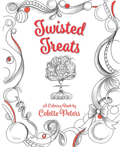 Twisted Treats: A Coloring Book by Colette Peters